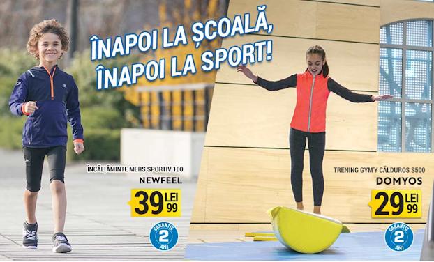 Decathlon Promotii  Back To School  →  Inapoi la scoala, inapoi la sport!