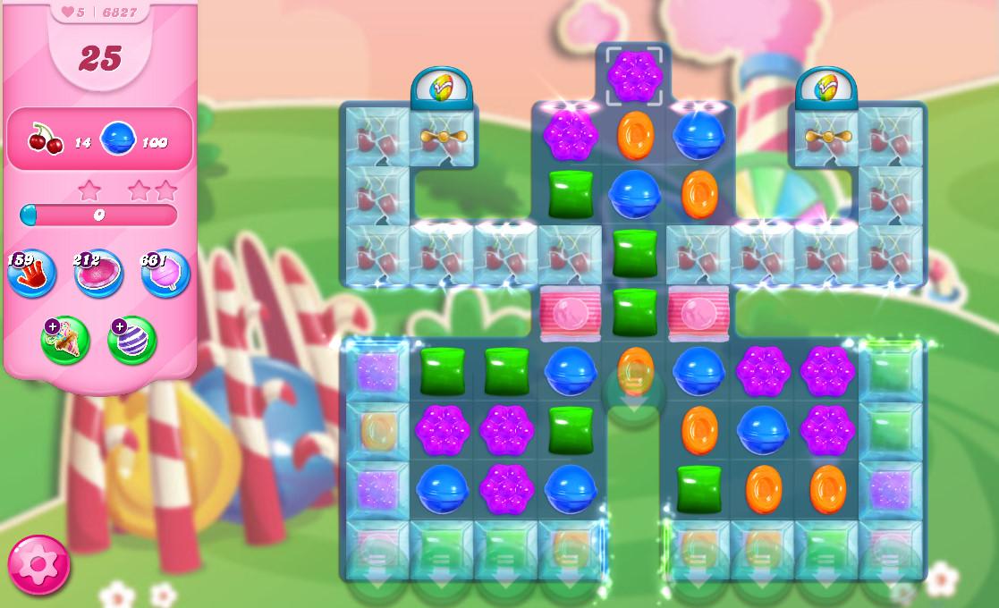 Candy Crush Saga level 6827