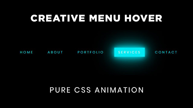 Creative Pure CSS Menu Hover Effect
