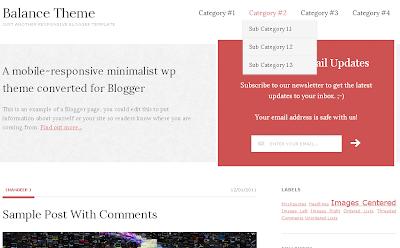 balance theme blogger template