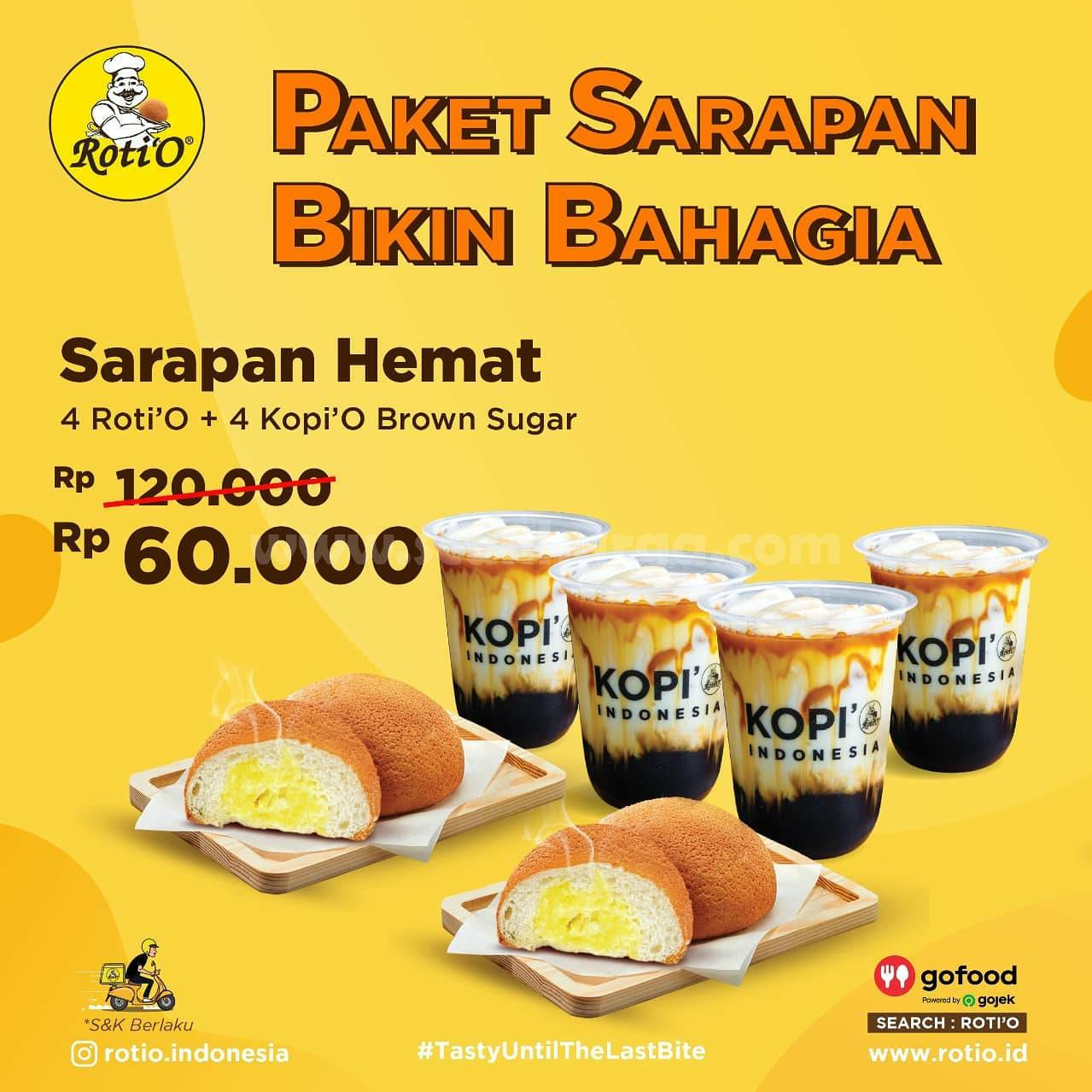 Promo ROTI'O Paket Sarapan Diskon Up To 50%