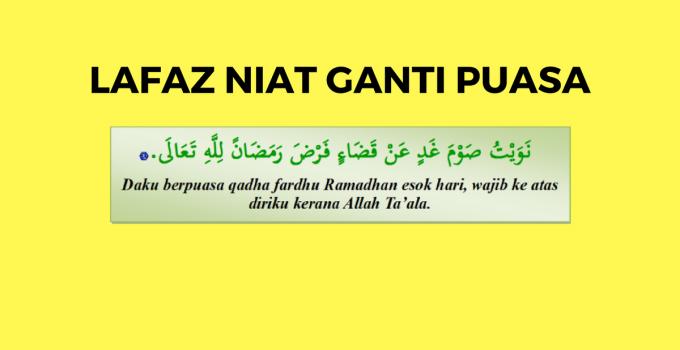 Niat Ganti Puasa Ramadhan Nu