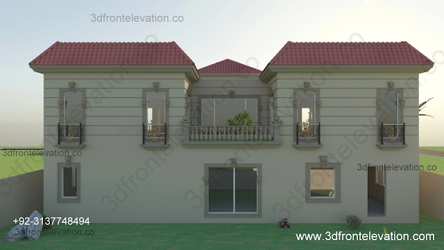 1 Kanal Spanish House Design PLan DHA
