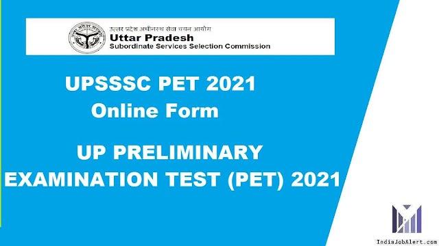 UPSSSC PET 2021 online Form