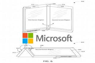 يمكن أن يستخدم Surface القابل للطي من Microsoft المفصلة كشاشة إعلام