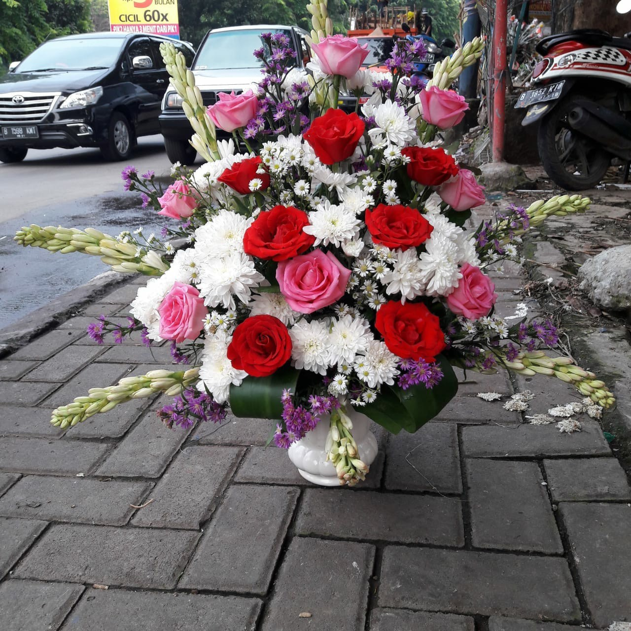 Karangan Bunga Meja Table Flowers 019