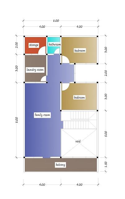 2nd floor plan of beautiful house plan 30