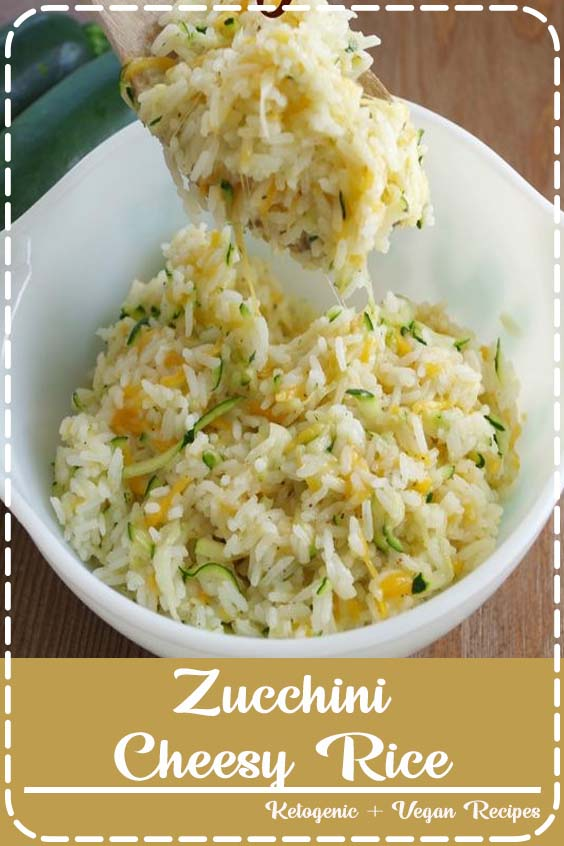 See how easy it is to make this zucchini cheesy rice for a fun side dish on gracefullittle Zucchini Cheesy Rice