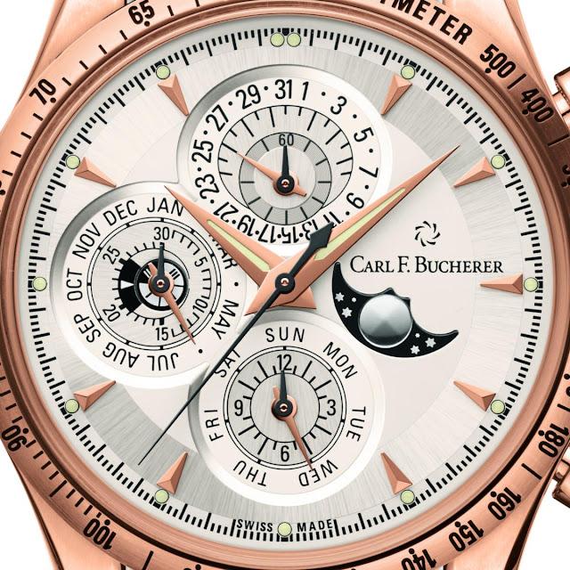 Carl F. Bucherer Manero Chronoperpetual Ref. 00.10907.03.13.01 dial