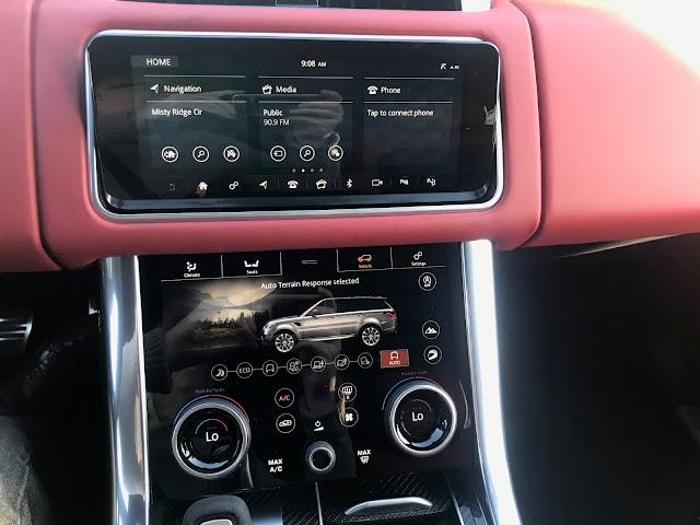 Infotainment and HVAC in 2019 Range Rover Sport HST MHEV