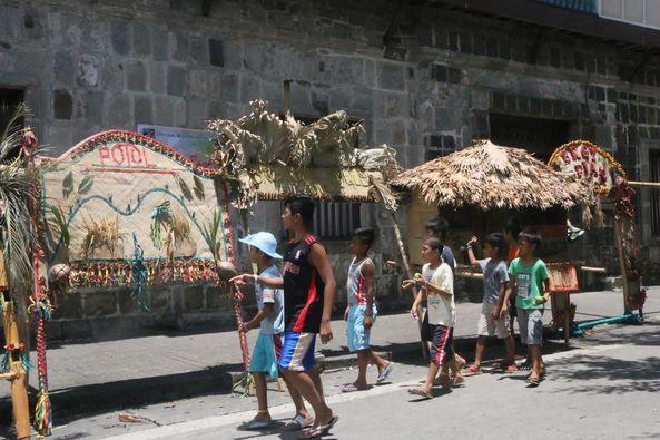 Baliskog (arc) from the different barangays of Tayabas placed around Casa Comunidad.