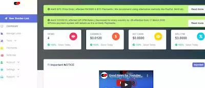 gplink highest paying url shortener website