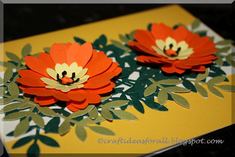 Craft ideas for all flower greeting card using paper punches flower greeting card using paper punches m4hsunfo