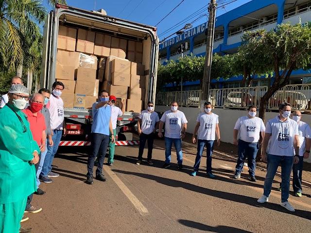 Doação da JBS chega a Itumbiara