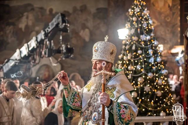 У Свято-Успенській Києво-Печерській лаврі закінчилася Різдвяна літургія, - відео