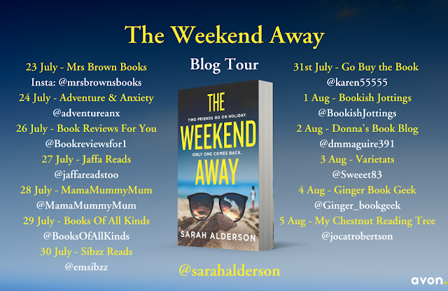 the-weekend-away-sarah-slderson-blog-tour