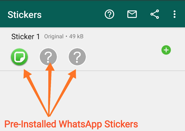 Pre-Installed WhatsApp Stickers