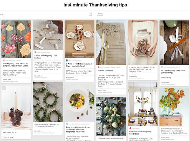 last minute thanksgiving ideas