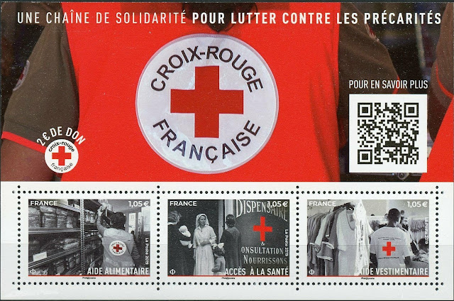 France Stamps 2019 MNH French Red Cross Medical Health Croix-Rouge
