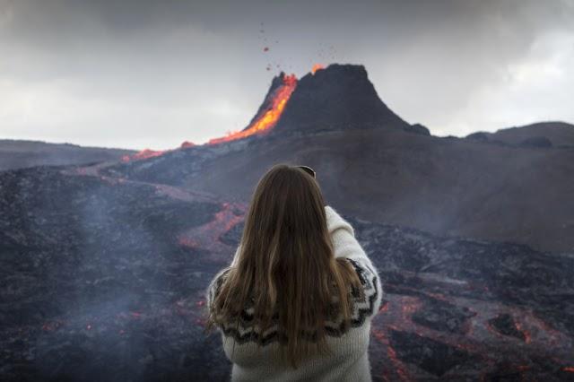 Iceland volcano: Lava flows thrill crowds after eruption near Reykjavik