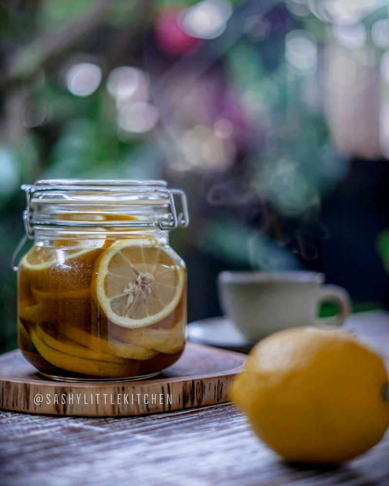 Lemon Ginger Honey Syrup, Tingkatkan daya tahan tubuh dengan 3 bahan sederhana ini.
