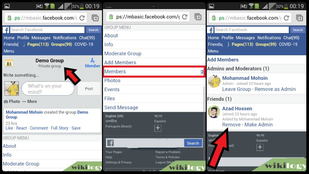 How to delete a group on Facebook from mobile