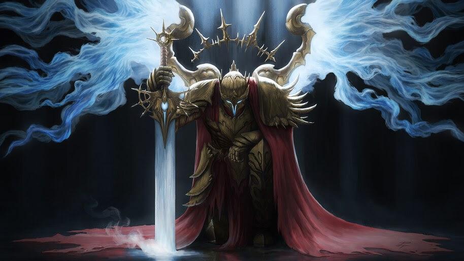 Fantasy, Warrior, Sword, Wings, 4K, #4.992
