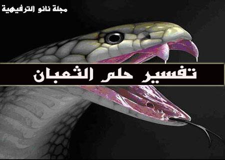 حلم الثعبان | تفسير حلم الثعبان بالمنام | تفسير رؤيا الثعبان فى المنام بالتفصيل الممل