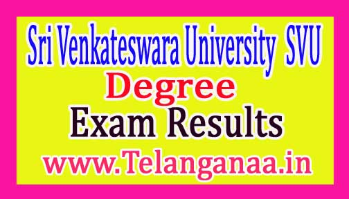 SVU Degree 3rd Year Supply Exam Results 2017