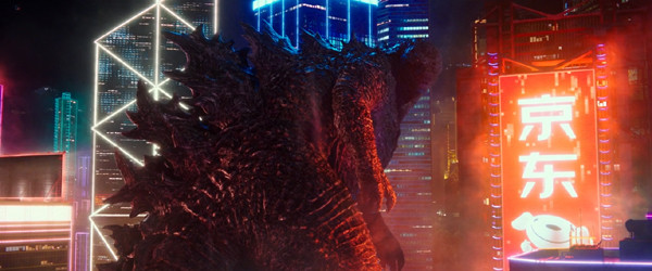 Godzilla is ready to do battle in the middle of Hong Kong...in GODZILLA VS. KONG.