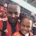 Former Rapper, Eldee takes his adorable daughters to watch football