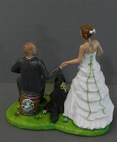 cake topper a tema cake tops fatti a mano sposi torta matrimonio orme magiche