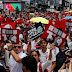 Thousands protest China extradition bill in Hong Kong