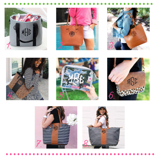 monogrammed bags from marleylilly.com