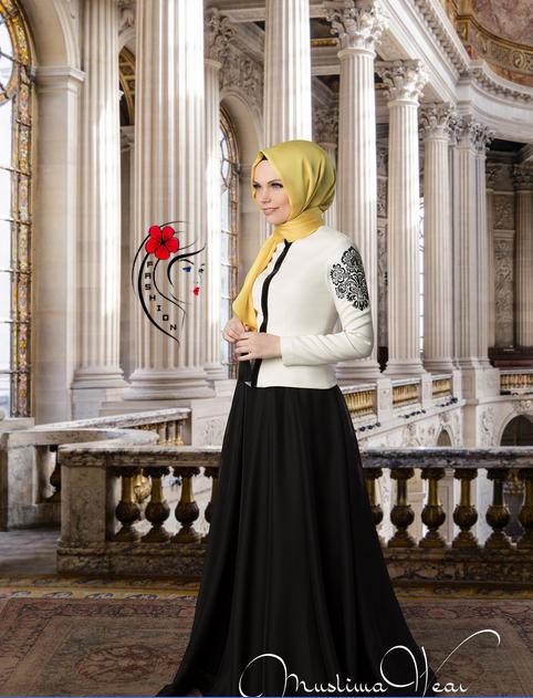 6bdf6ca7c7226 تألقى كأميرة بمجموعة فساتين للمحجبات من Muslima wear خريف وشتاء 2014-2015