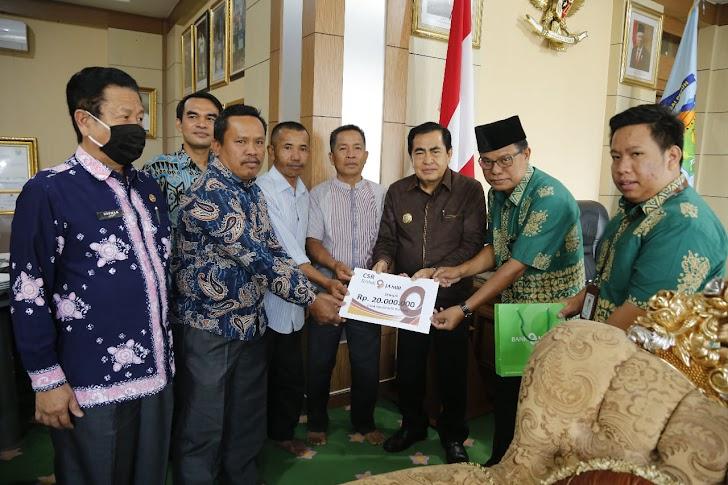 Bersumber dari Dana CSR, Wako Serahkan Bantuan Pembangunan Masjid Nurul Haq