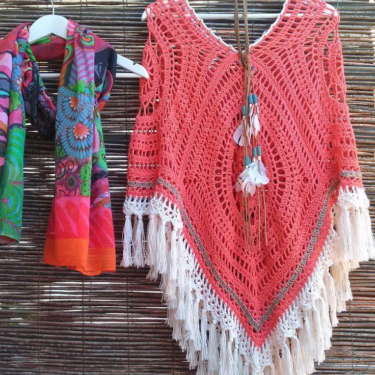 María Cielo Ponchos Tejidos Crochet Y Dos Agujas