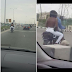 Topless Lady Spotted On A Motorbike Along Lekki Expressway In Lagos. Photos