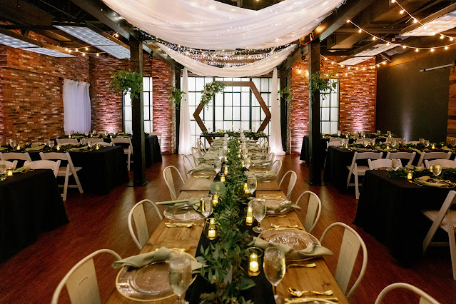 wedding reception table setup at trellis925