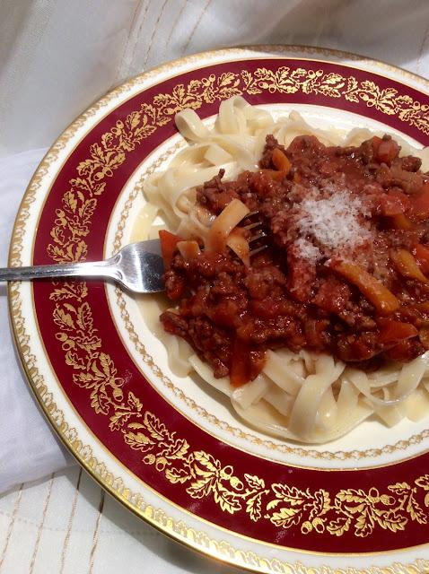 Italian recipe, beef ragu