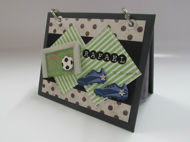 mini album de fotos scrapbook futebol