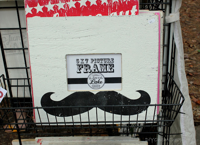 Mustache frame (spotted at the Country Living Fair). So funny!