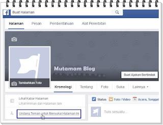 Cara Mengundang Teman Untuk Menyukai Halaman Facebook