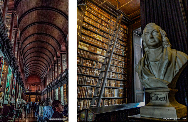 Long Room da Old Library do Trinity College, em Dublin