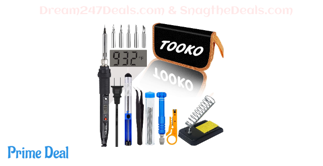 40% OFF TOOKO Soldering iron tool Kit electronics - Soldering Iron 80 W Digital display Temperature