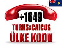 +1 649 Turks ve Caicos Adaları ülke telefon kodu