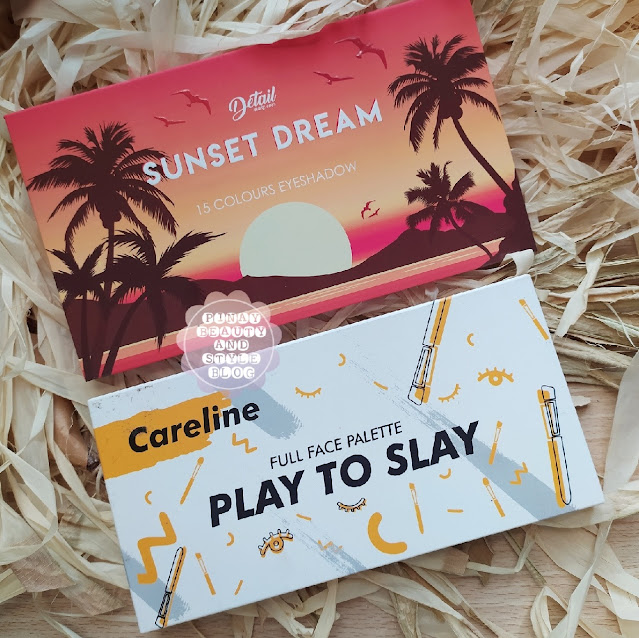 Detail Sunset Dream Palette vs Careline Play to Slay