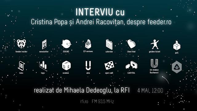 Ascultă acest interviu cu Cristina Popa și Andrei Racovițan realizat de Mihaela Dedeoglu pentru Radio RFI România