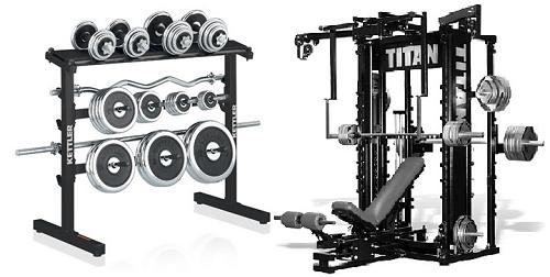 Pesos libres y máquinas