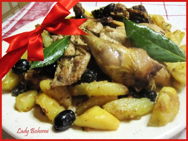 hiperica di lady boheme blog di cucina, ricette facili e veloci. Ricetta fagiano con patate e olive nere al brandy